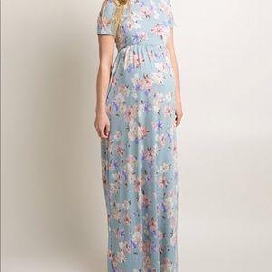 Pinkblush Dresses - PinkBlush blue Short Sleeve Maxi